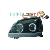 Set de deux phares principaux H7/ H1 noir RENAULT CLIO 2 de 01 à 05