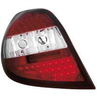 Kit de feux arrières version LED blanc/rouge RENAULT CLIO 3 de 05 à 09
