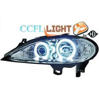 Set de deux phares principaux H1/H1 chrome RENAULT SCENIC 1 de 99 à 02