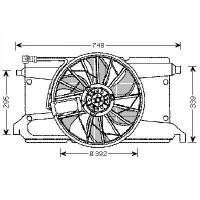 Ventilateur refroidissement du moteur MAZDA 3 de 03 à 08 - OEM : Z60115025H9A