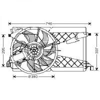 Ventilateur refroidissement du moteur MAZDA 3 de 04 à 08 - OEM : Z60215025G9A
