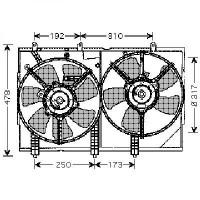 Ventilateur refroidissement du moteur MITSUBISHI OULANDER 1 de 03 à 06 - OEM : MR993933