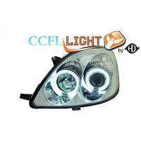 Set de deux phares principaux H1/H1 avec correcteur TOYOTA YARIS (P1) de 99 à 03