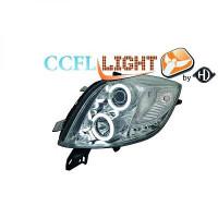 Set de deux phares principaux H1/H1 chrome TOYOTA YARIS (P9) de 06 à 09