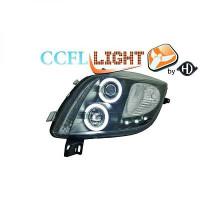 Set de deux phares principaux H1/H1 noir TOYOTA YARIS (P9) de 06 à 09