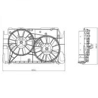 Ventilateur refroidissement du moteur TOYOTA RAV 4 (A3) de 06 à 10 - OEM : 16711-28320