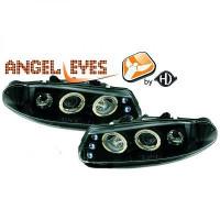 Set de deux phares principaux H1/H1 noir ROVER 200 de 95 à 0