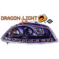 Set de deux phares principaux H1/H1 limpide SEAT IBIZA 4 (6L1) de 02 à 08