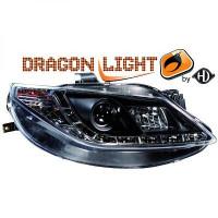 Set de deux phares principaux H1/H1 noir SEAT IBIZA 5 de 08 à 12
