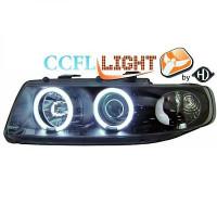 Set de deux phares principaux H1/H1 noir SEAT LEON 1 de 99 à 05