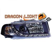 Set de deux phares principaux H7/ H1/ H1 noir de 01 à 04