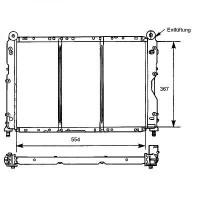 Radiateur, refroidissement du moteur boite manuelle de 94 à >> - OEM : 7782493