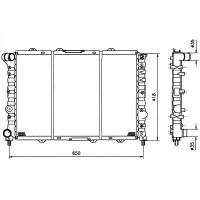 Radiateur, refroidissement du moteur 580 x 415 x 23 [mm] de 97 à >> - OEM : 60690404