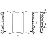 Radiateur, refroidissement du moteur 580 x 394 pour boite manuelle de 97 à 00 - OEM : 60690405
