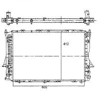 Radiateur, refroidissement du moteur 632 x 414 boite auto de 90 à 97 - OEM : 4A0121251R
