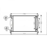 Radiateur, refroidissement du moteur de 00 à 04 - OEM : 8E0121251L
