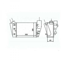 Intercooler, échangeur gauche inférieur de 00 à >> - OEM : 8E0145805P