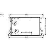 Radiateur, refroidissement du moteur 720 x 475 x 26 pour boite manuel de 07 à >> - OEM : 8K0121251L