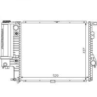 Radiateur, refroidissement du moteur 520 x 440 pour boite auto de 95 à 98 - OEM : 1432819