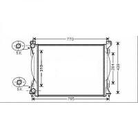Radiateur, refroidissement du moteur 675 x 445 x 32 pour boite manuel de 04 à 08 - OEM : 4F0121251Q