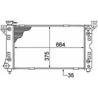 Radiateur, refroidissement du moteur 650 x 380 de 96 à 01 - OEM : 4682976AB