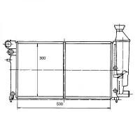 Radiateur, refroidissement du moteur 530 x 300 pour boite manuelle de 96 à >> - OEM : 1330A8