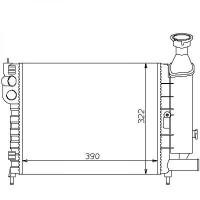 Radiateur, refroidissement du moteur 390 x 322 pour boite manuelle de 91 à 96 - OEM : 96082116