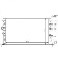 Radiateur, refroidissement du moteur boite manuelle pour modèles sans clim de 93 à 95 - OEM : 96104142
