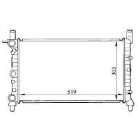 Radiateur, refroidissement du moteur 519 x 303 pour boite manuelle de 93 à >> - OEM : 50005580