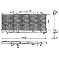 Radiateur, refroidissement du moteur 270 x 757 pour boite manuelle de 97 à 97 - OEM : 46472572