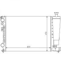 Radiateur, refroidissement du moteur boite manuelle pour modèles sans clim de 94 à >> - OEM : 1301P1