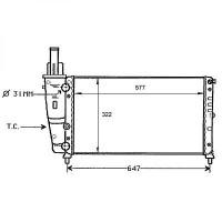 Radiateur, refroidissement du moteur 577 x 322 pour boite manuelle de 93 à 99 - OEM : 46430837