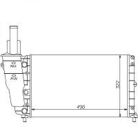 Radiateur, refroidissement du moteur 496 x 322 pour boite manuelle de 93 à >> - OEM : 7745692