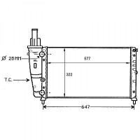 Radiateur, refroidissement du moteur 577 x 322 pour boite manuelle de 93 à 99 - OEM : 7774531