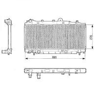 Radiateur, refroidissement du moteur 270 x 661 boite auto de 96 à 99 - OEM : 7794871