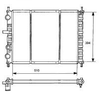 Radiateur, refroidissement du moteur 510 x 414 pour boite manuelle de 95 à 99 - OEM : 46462526