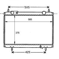 Radiateur, refroidissement du moteur 375 x 565 de 95 à 99 - OEM : 71736178