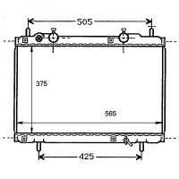 Radiateur, refroidissement du moteur 375 x 565 pour boite manuelle de 95 à 99 - OEM : 7794069