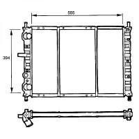 Radiateur, refroidissement du moteur 555 x 394 pour boite manuelle de 95 à 99 - OEM : 46462526