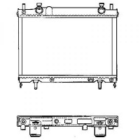 Radiateur, refroidissement du moteur 375 x 565 pour boite manuelle de 95 à >> - OEM : 46405919