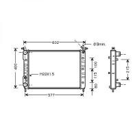Radiateur, refroidissement du moteur 520 x 350 pour boite manuelle de 98 à >> - OEM : 46453389