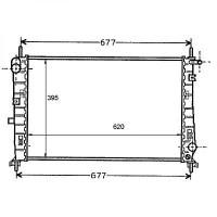 Radiateur, refroidissement du moteur 620 x 395 pour boite manuelle de 96 à 00 - OEM : 97BB8005CA