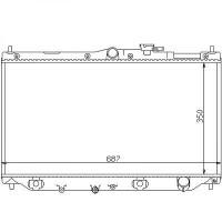 Radiateur, refroidissement du moteur 350 x 668 pour boite manuelle de 89 à 98 - OEM : PCC113540