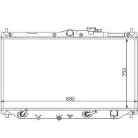Radiateur, refroidissement du moteur 350 x 668 boite auto de 89 à 98 - OEM : GRD171