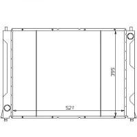 Radiateur, refroidissement du moteur 521 x 400 pour boite manuelle de 89 à 99 - OEM : PCC10040