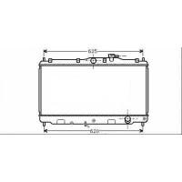 Radiateur, refroidissement du moteur 350 x 668 pour boite manuelle de 89 à 98 - OEM : 19010PT1004