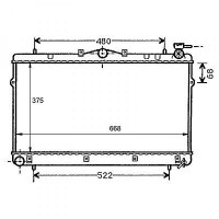Radiateur, refroidissement du moteur 375 x 668 pour boite manuelle de 95 à 02 - OEM : 2531029010