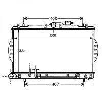 Radiateur, refroidissement du moteur 335 x 602 de 94 à 00 - OEM : 2531022250