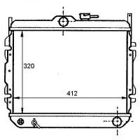 Radiateur, refroidissement du moteur 377 x 670 boite auto de 95 à 00 - OEM : 2531029750