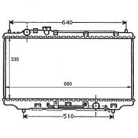 Radiateur, refroidissement du moteur 325 x 670 boite auto de 95 à 98 - OEM : Z50615200A